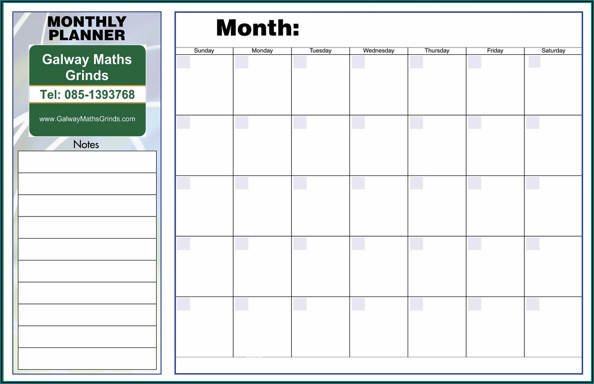 Free Weekly Monthly Planner Template