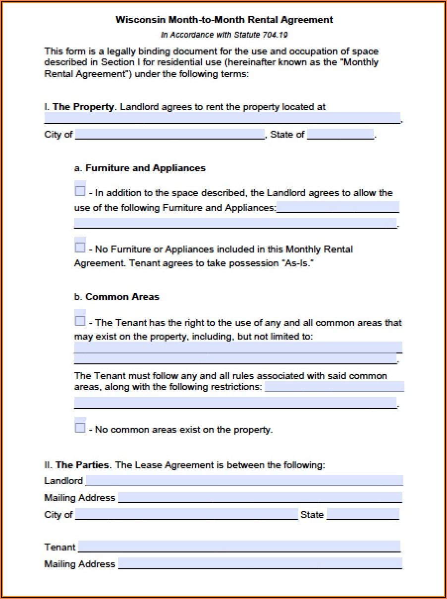 Free Word Lease Agreement Template