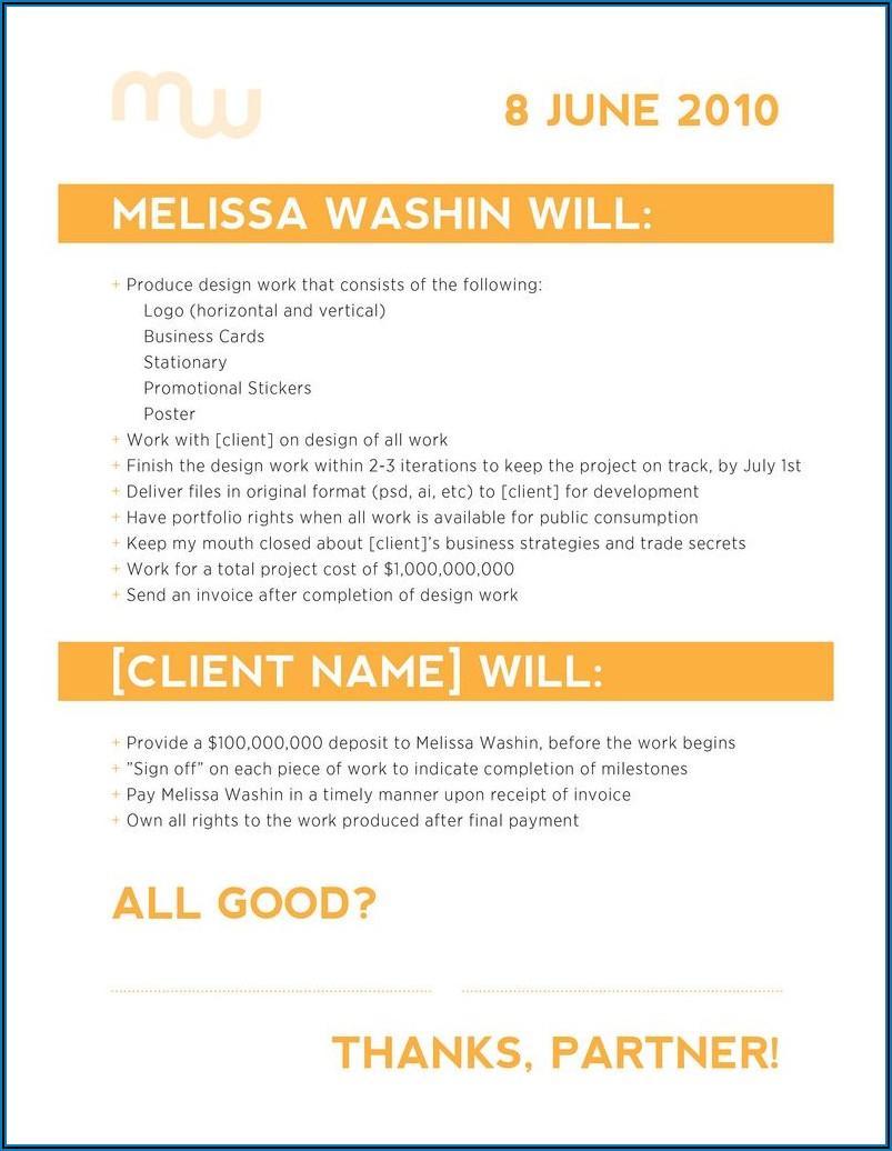 Freelance Graphic Design Contract Example