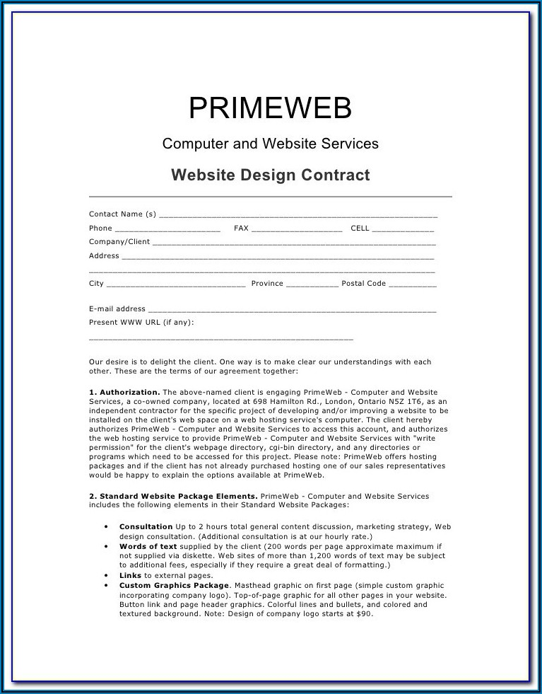 Freelance Graphic Design Contract Template Uk