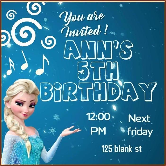 Frozen Birthday Invitations Template Download