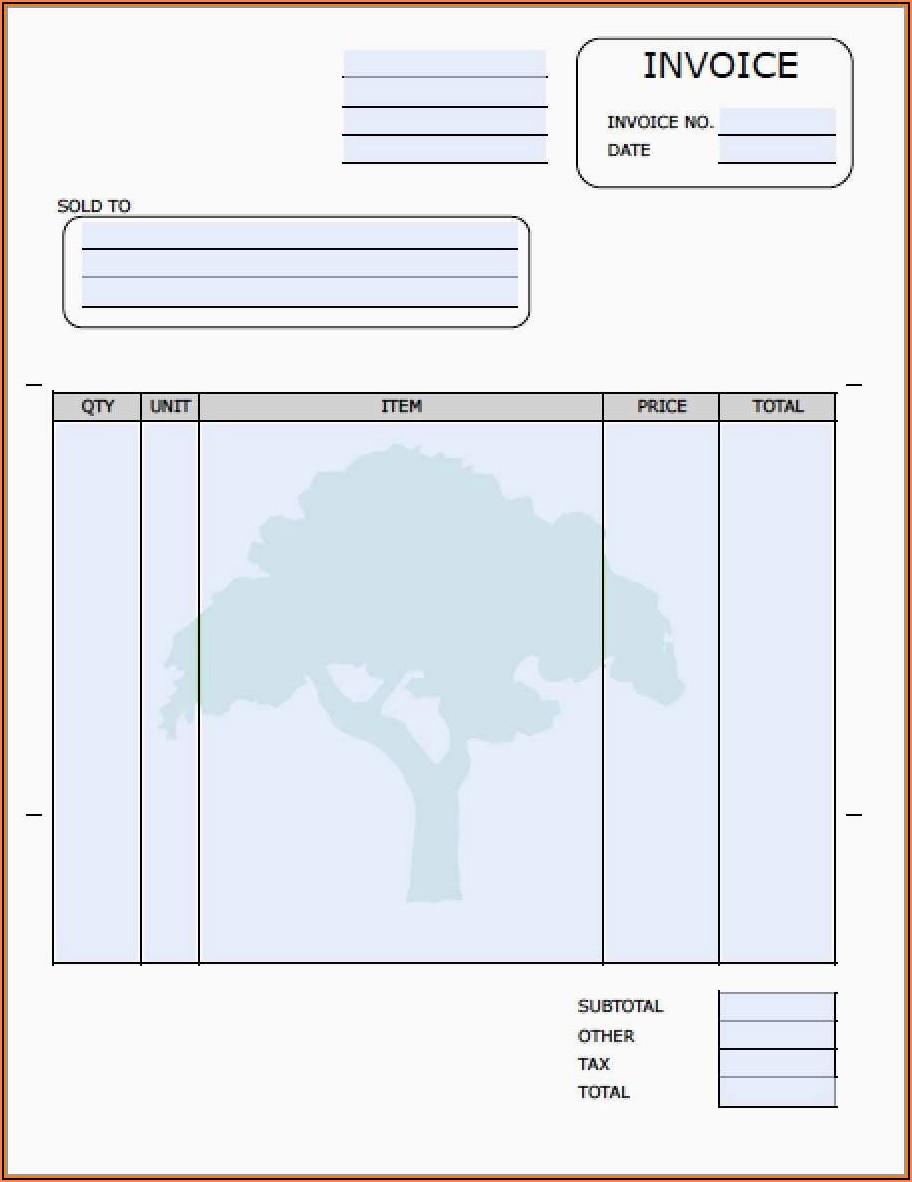 Gardening Invoice Template Free