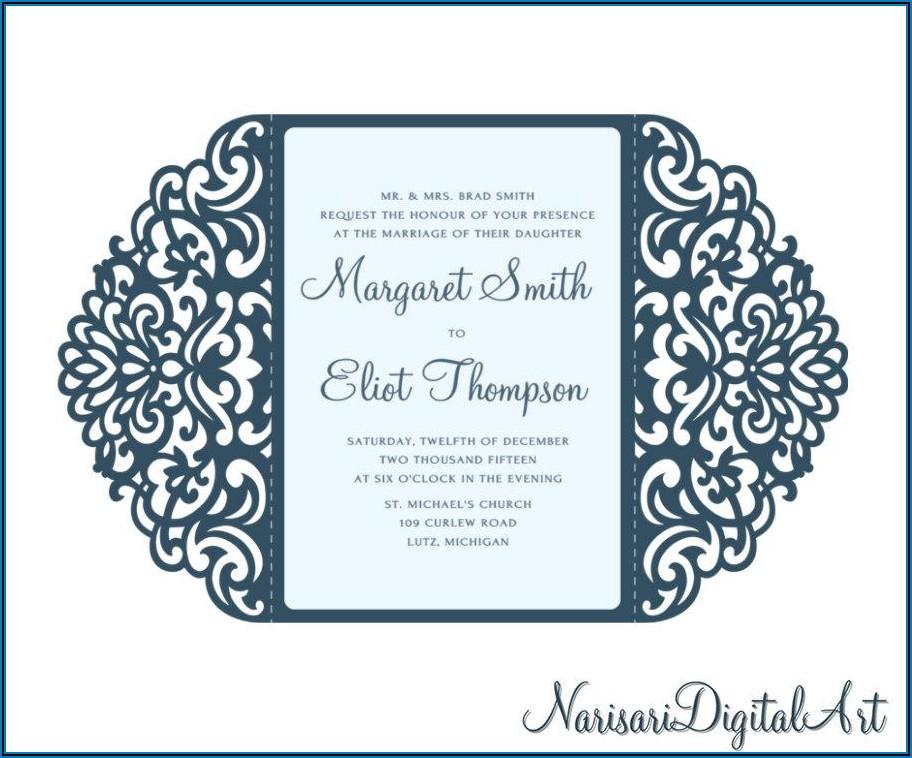 Gate Fold Wedding Invitation Template