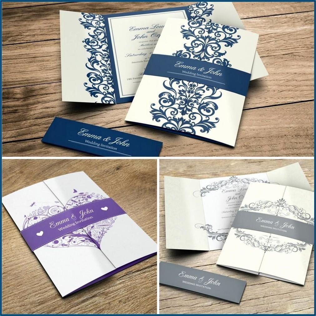 Gatefold Wedding Invitations Template