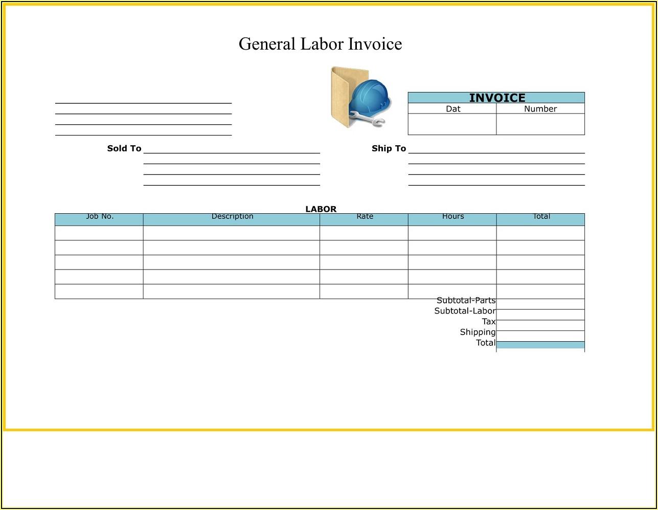 General Labor Invoice Template