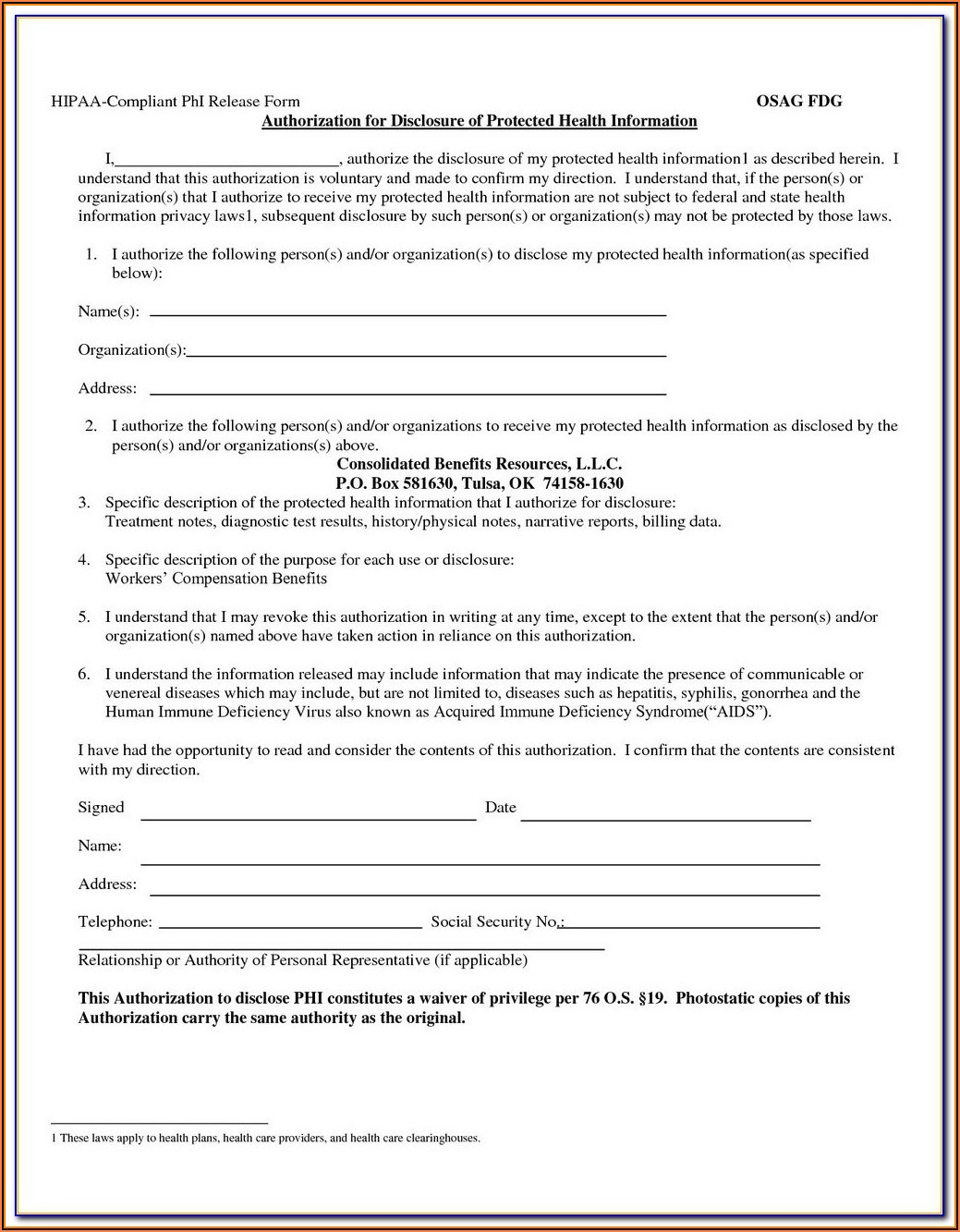 Hipaa Compliance Agreement Template For Employees