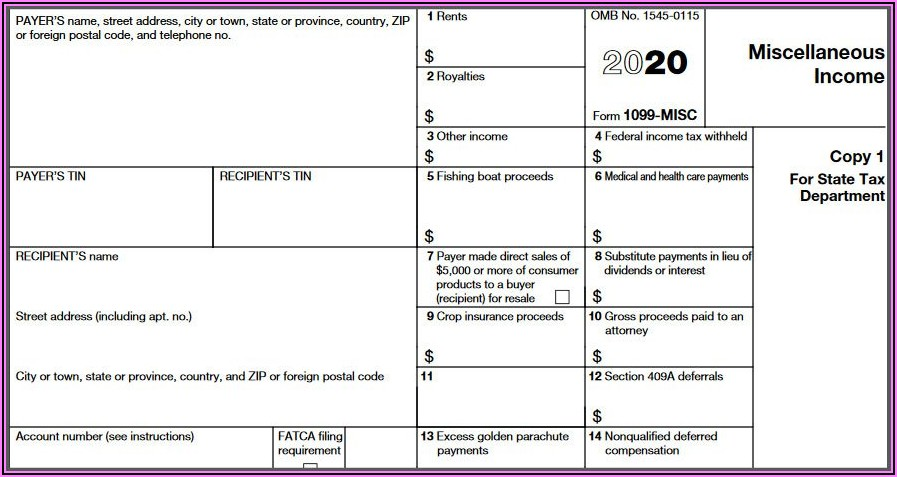 How To Fill Out 1099 Form 2019
