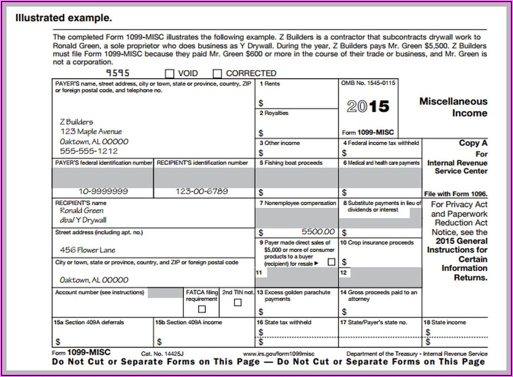 How To Fill Out 1099 Form For Employee