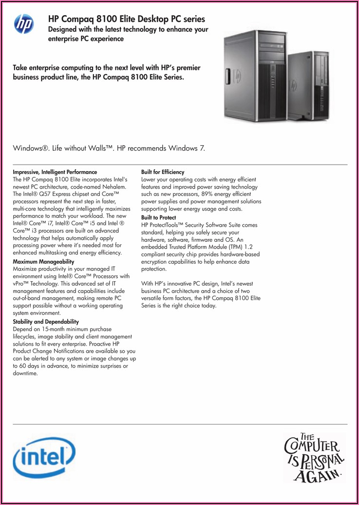 Hp Compaq 8100 Elite Small Form Factor Pc Bios Update