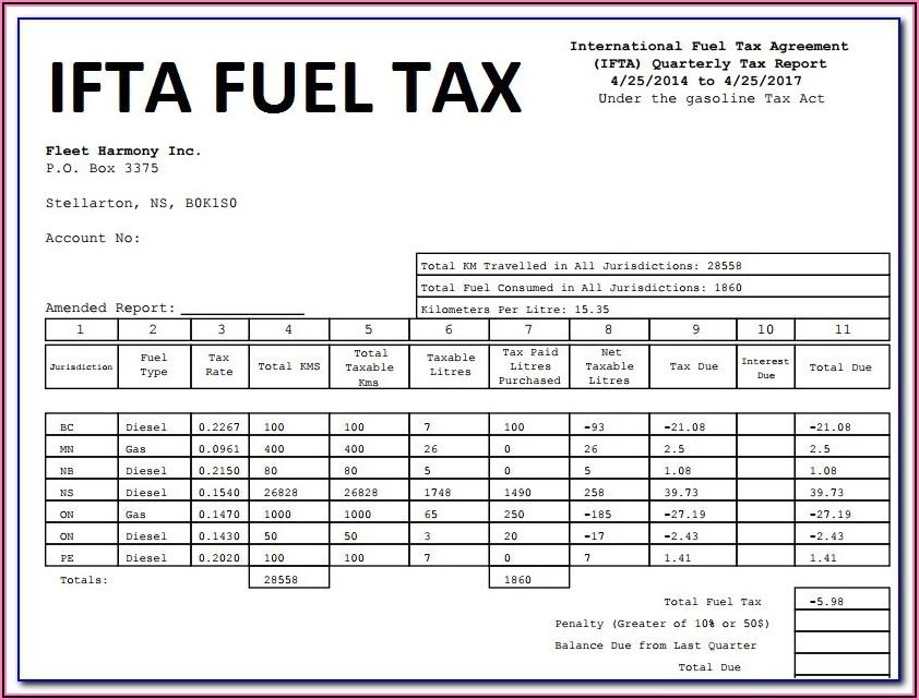 Ifta Tax Report Form