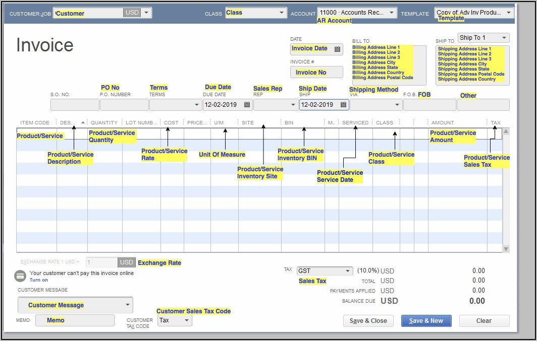 Import Invoices Into Quickbooks Enterprise