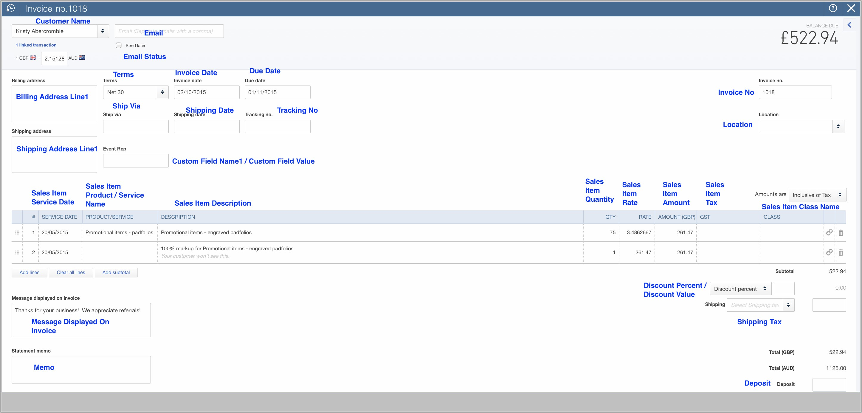 Import Sales Invoices Into Quickbooks Online