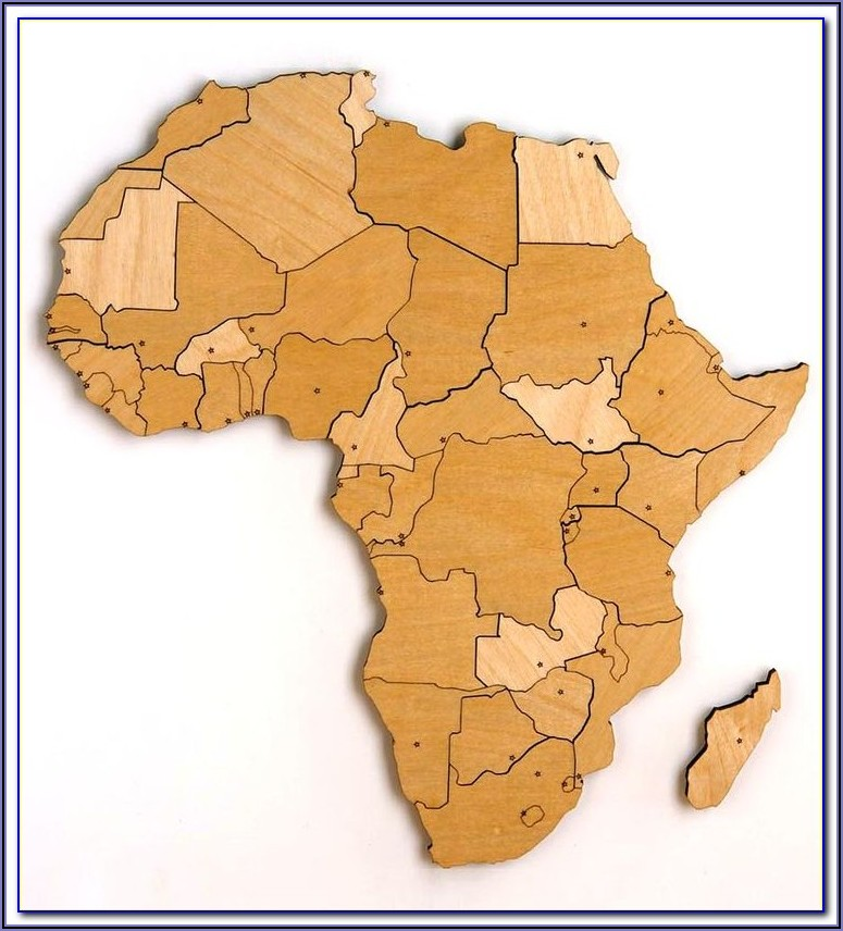 Interactive Africa Map Puzzle