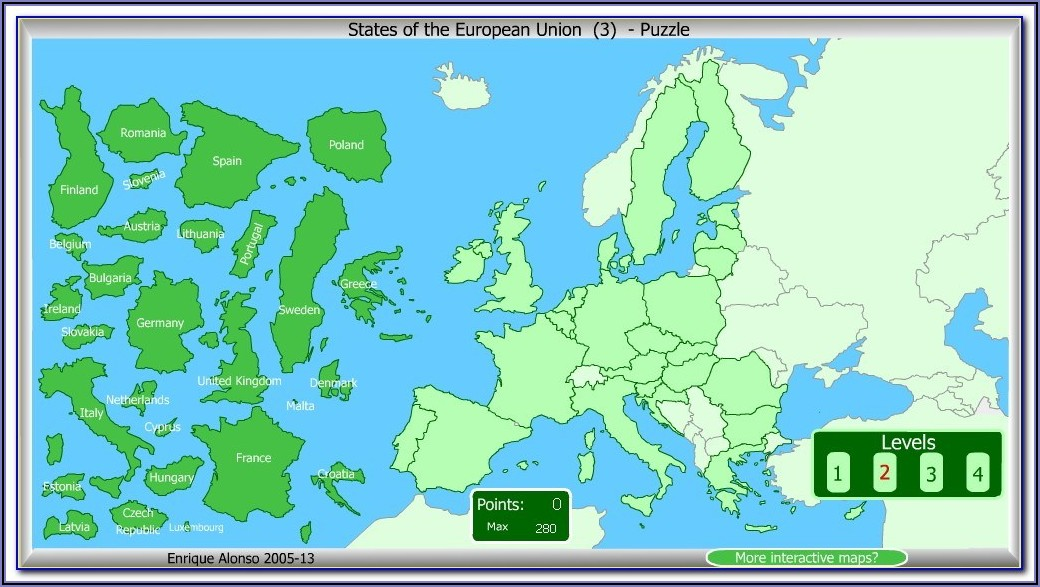 Interactive Australia Map Puzzle