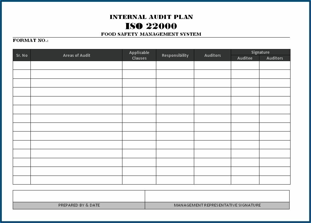 Internal Audit Schedule Template Iso 17025