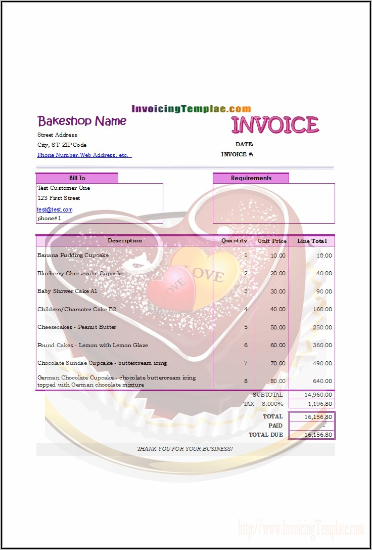 Invoice Format In Word For Hotel