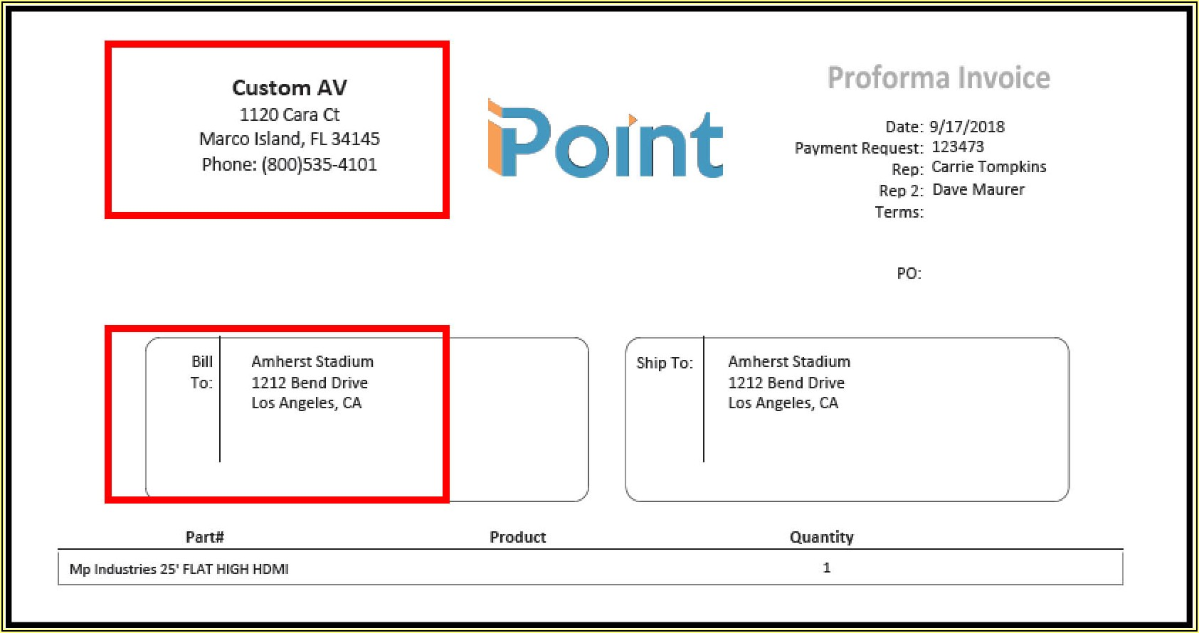 Invoice Template For Double Window Envelope