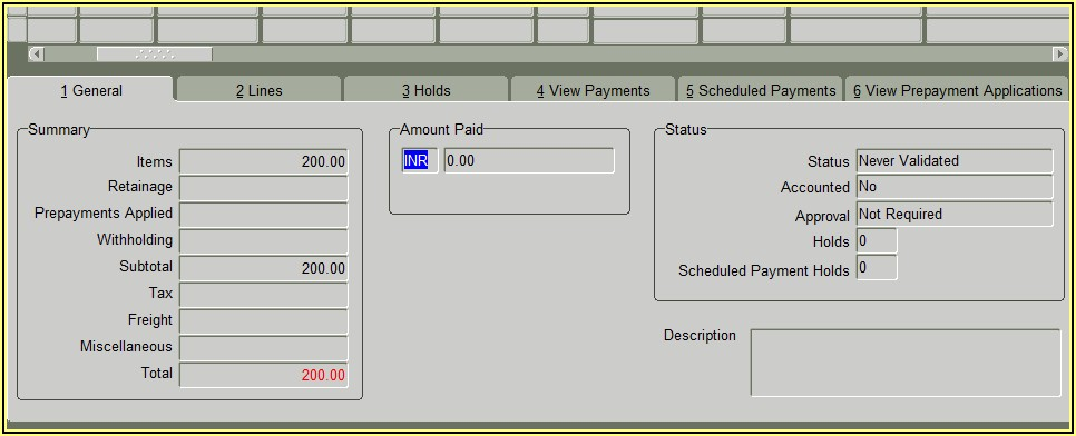 Invoice Validation Process In Oracle Payables Fusion
