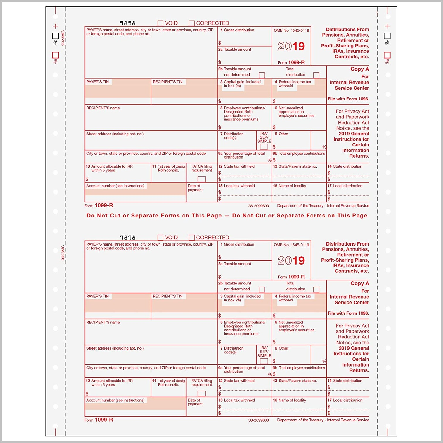 Irs 1099 Misc Form 2018