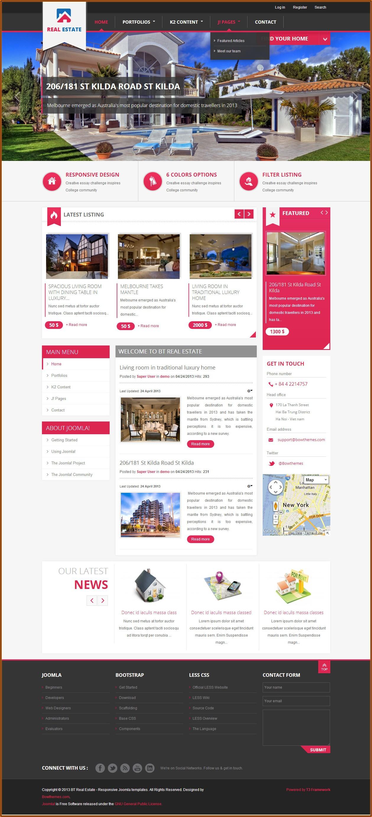 Joomla Real Estate Theme