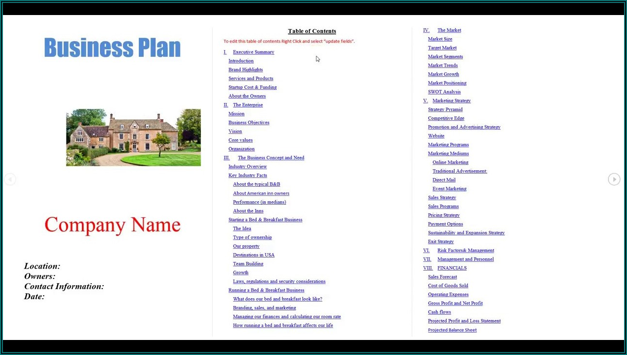 Landscaping Business Plan Template Pdf