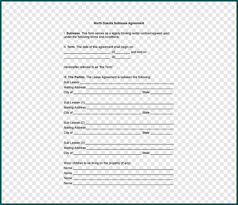 Lease Agreement Contract Form