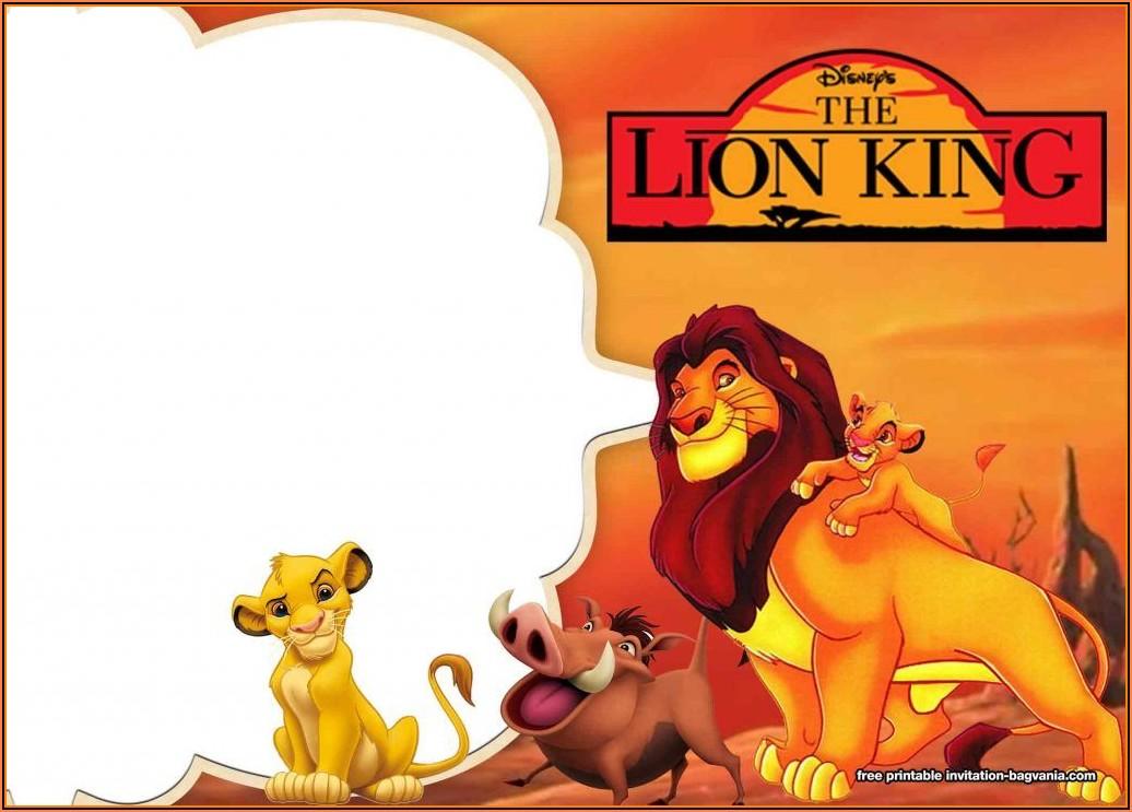Lion King Birthday Invitations Free Template