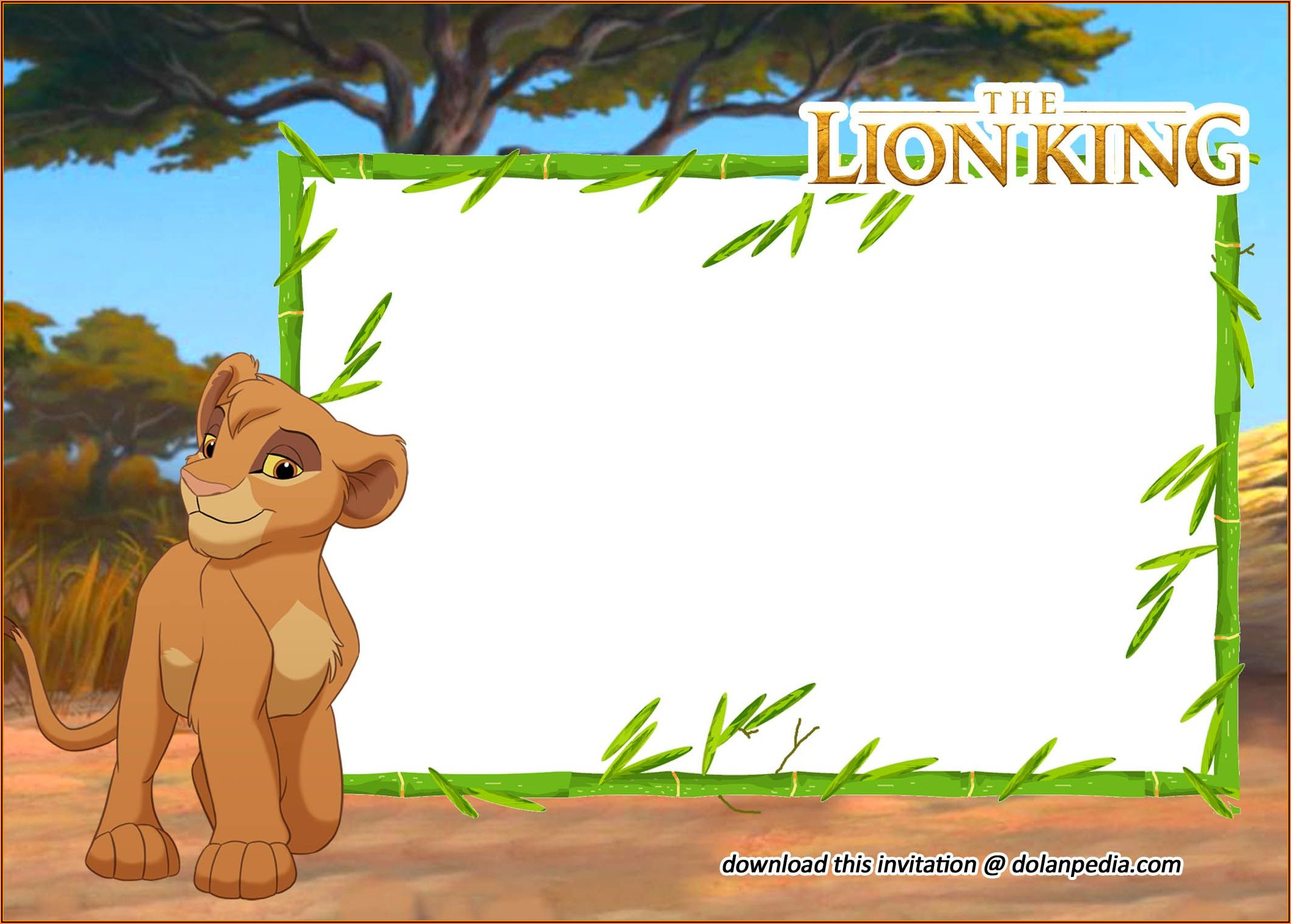 Lion King Party Invitation Template Free