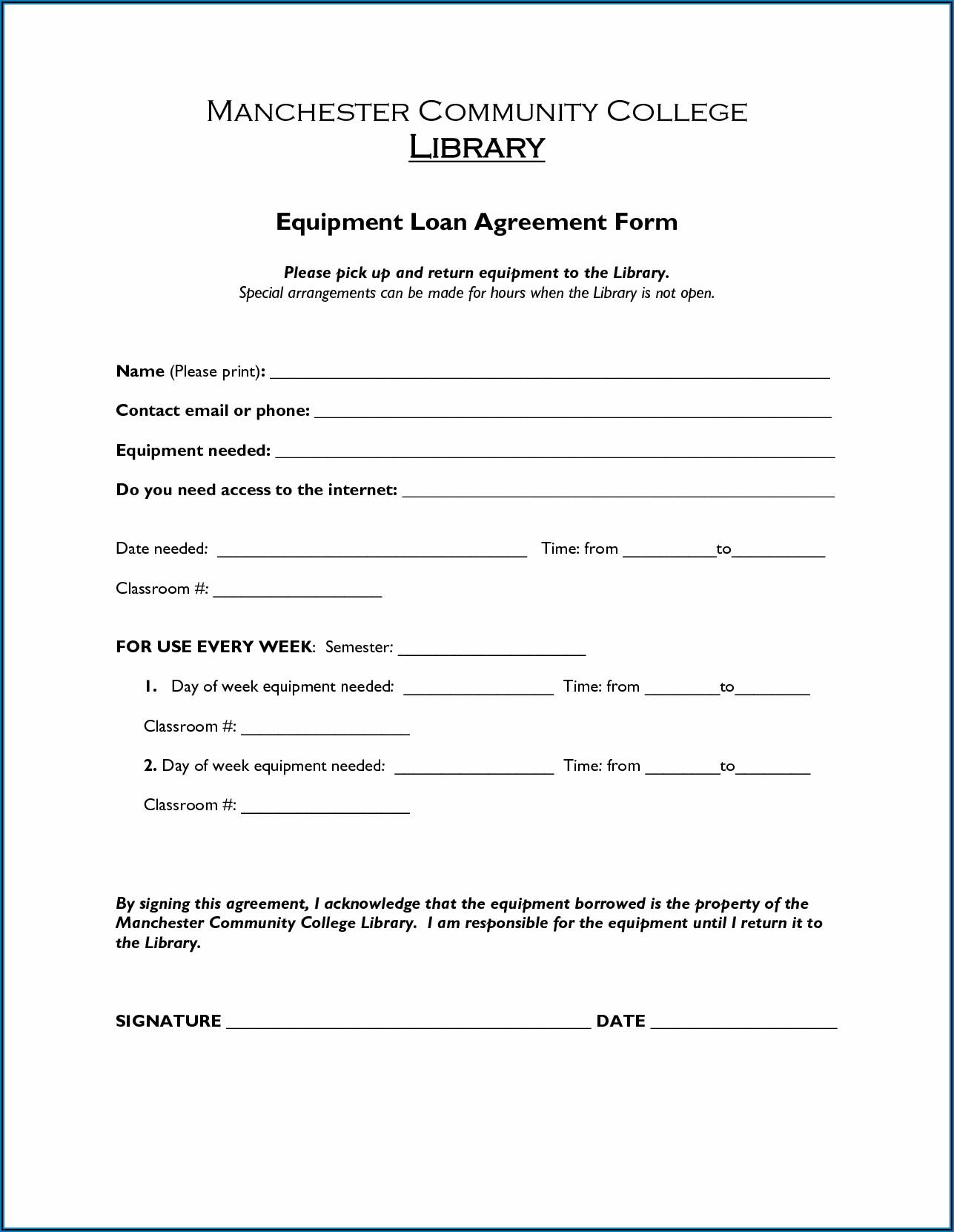 Loan Agreement Format Pdf