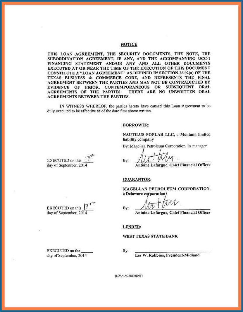 Loan Agreement Template Australia Pdf