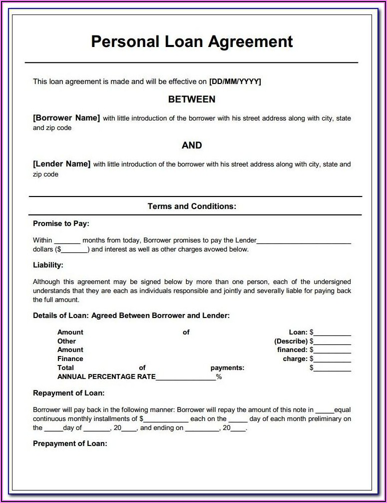 Loan Agreements Forms