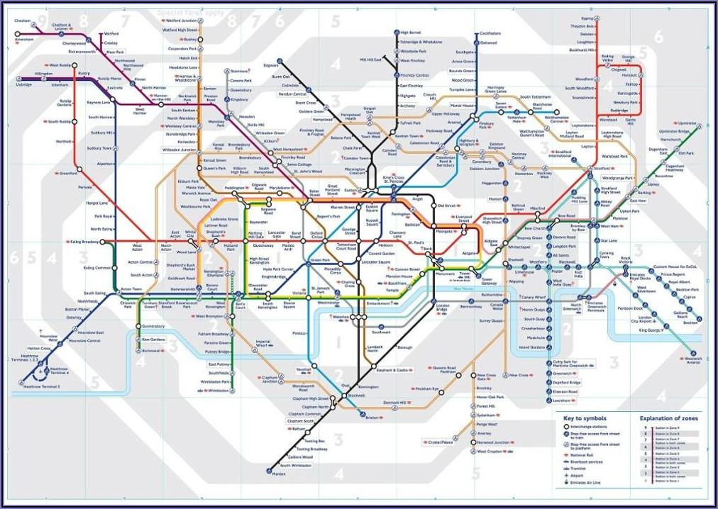London Tube Map Wall Art