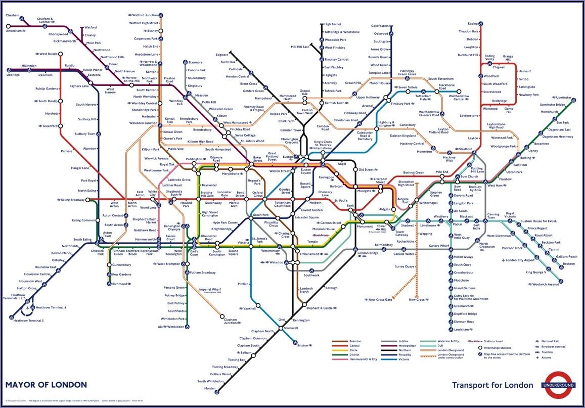 London Underground Tube Map Art