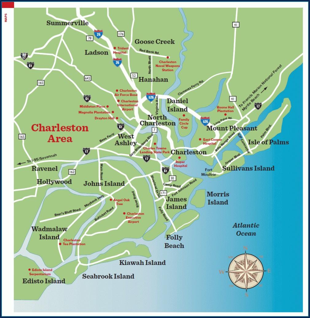 Map Charleston Sc Area