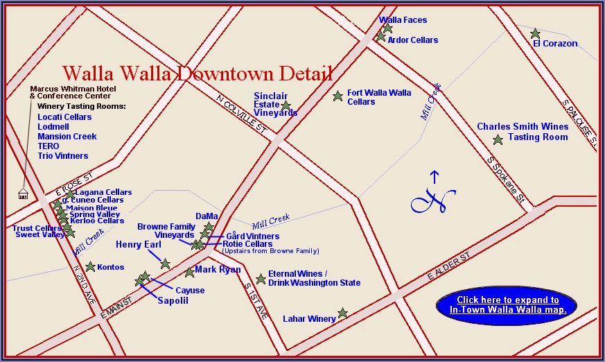 Map Of Hotels In Walla Walla Wa