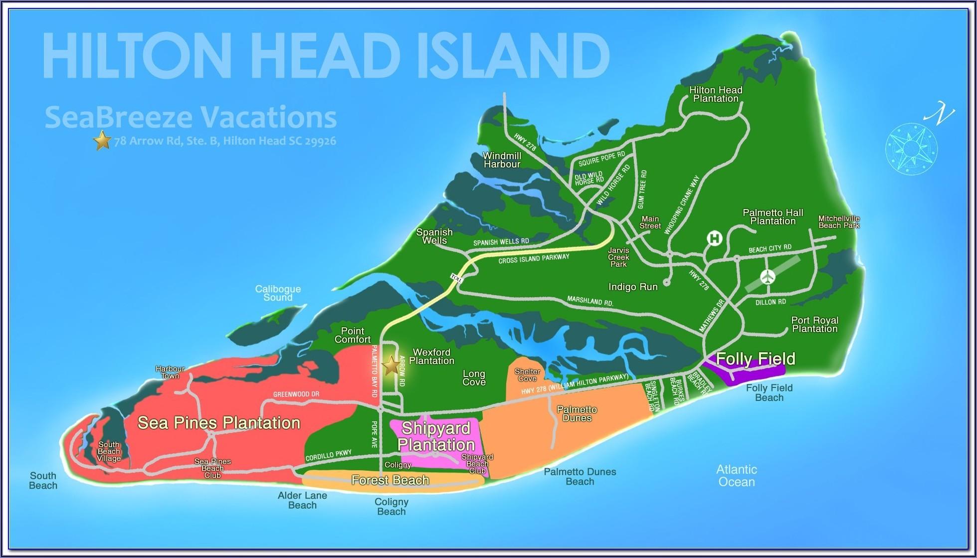Map Of Hotels On Hilton Head Island