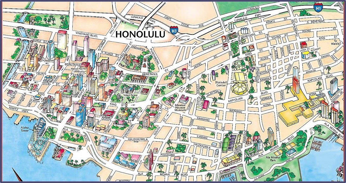 Map Of Hotels Waikiki