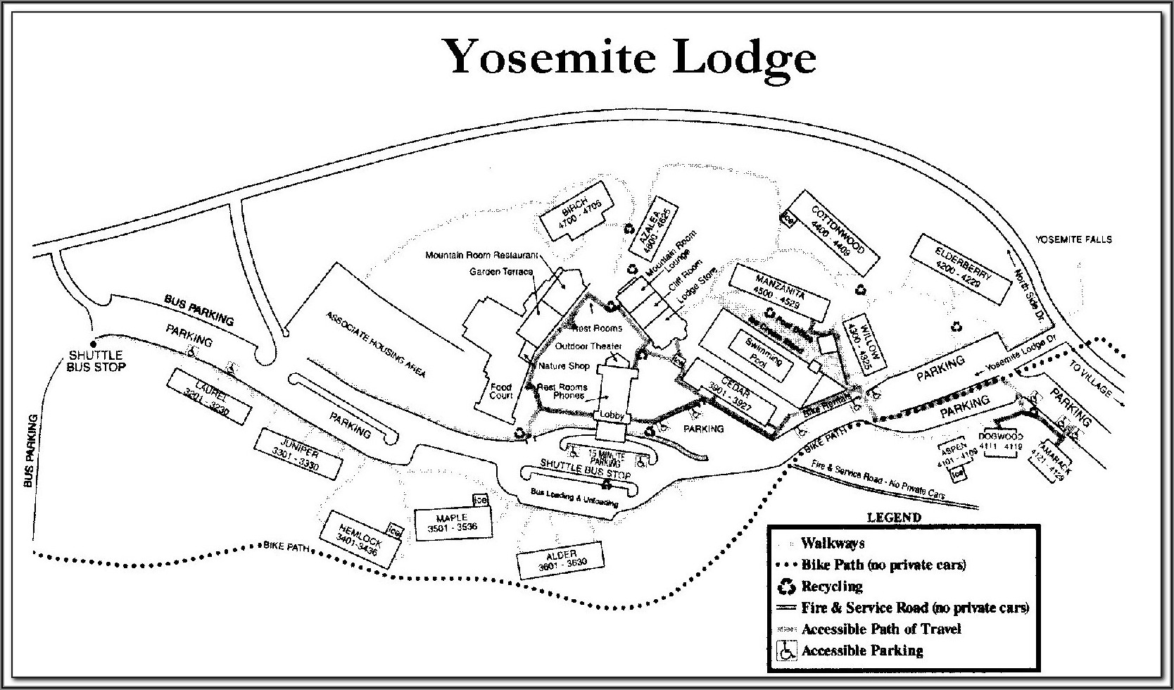 Map Of Yellowstone National Park Lodging