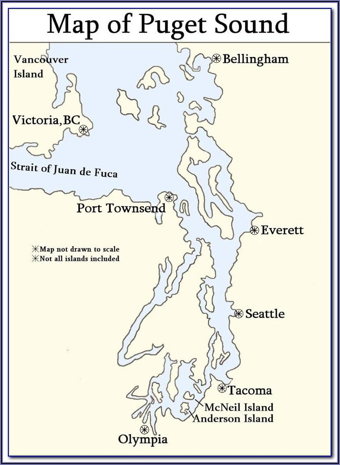 Marine Area 10 Puget Sound Map