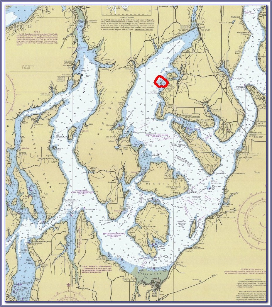 Marine Area 11 Puget Sound Map