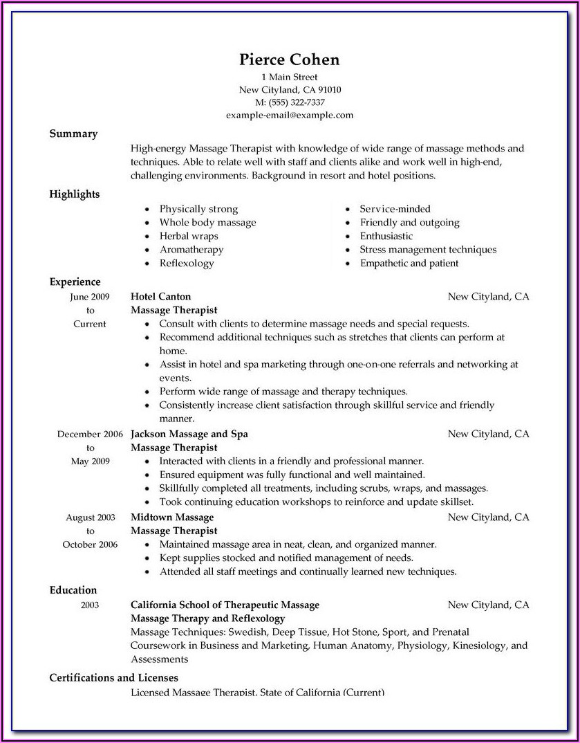 Massage Therapist Intake Forms