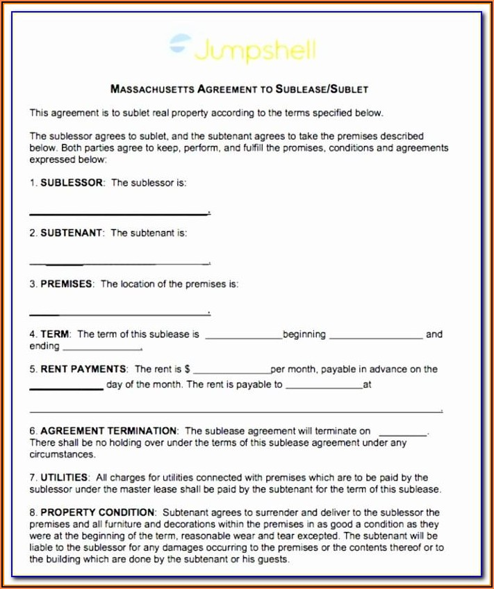 Master Equipment Lease Agreement Form