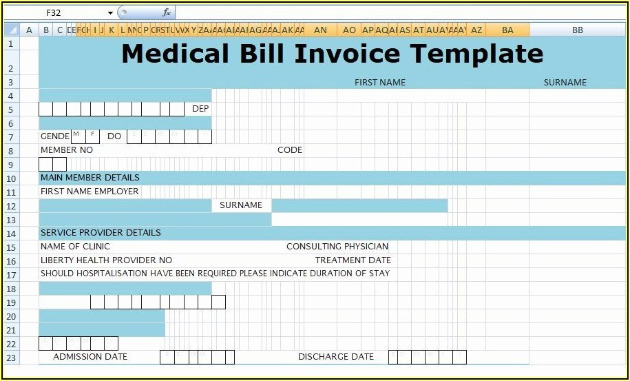 Medical Records Bill Template