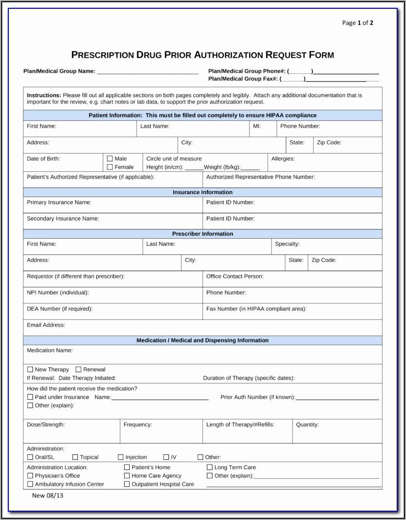 Medicare Plus Blue Ppo Prior Authorization Form