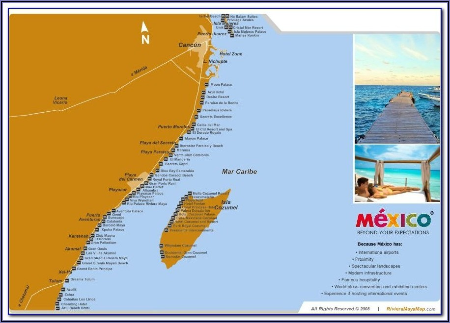 Mexican Riviera Hotel Map