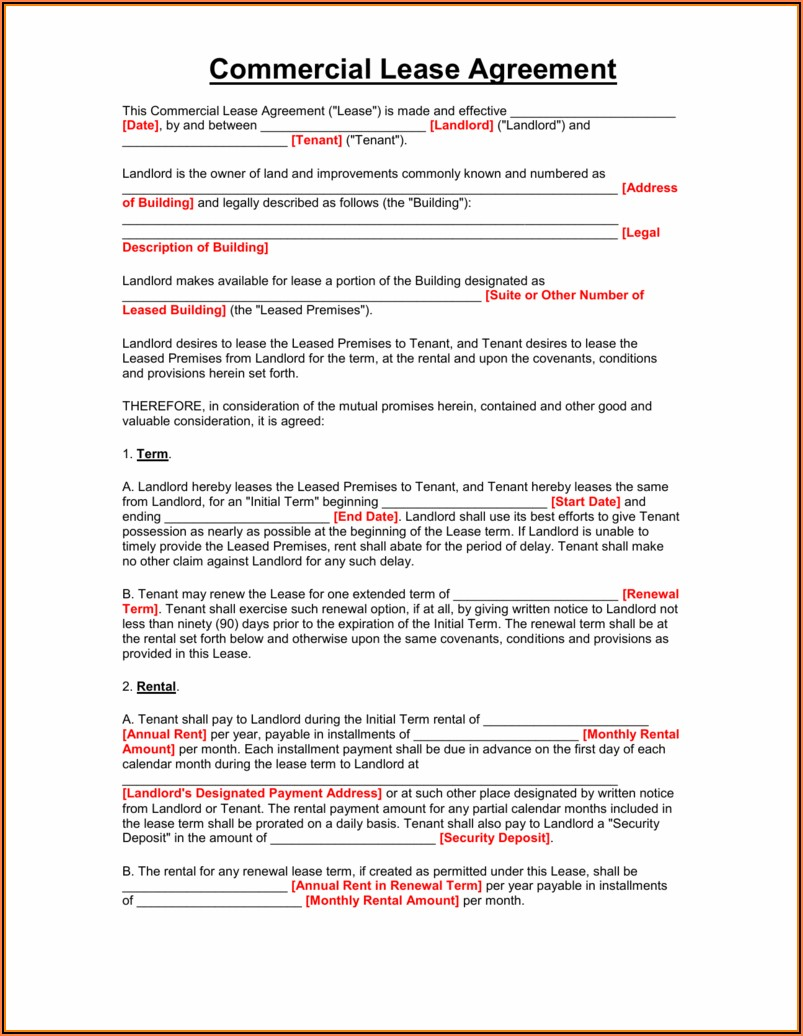 Microsoft Word Templates Lease Agreement