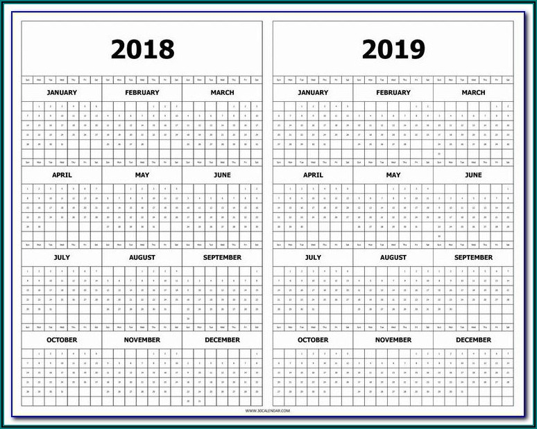 Monthly Scheduling Calendar Template 2019
