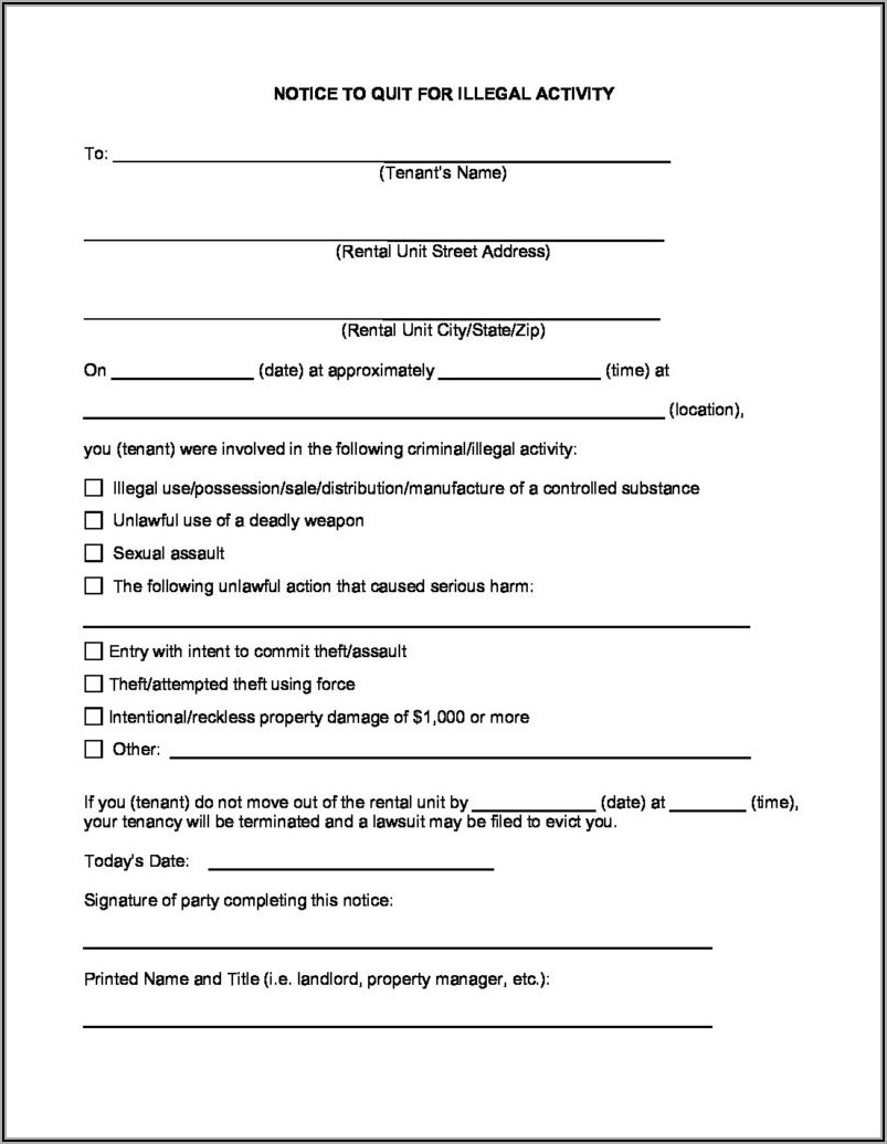New Mexico Eviction Notice Form