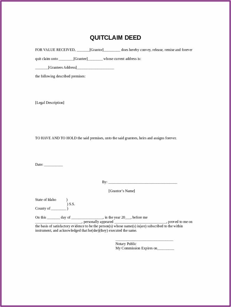 Oklahoma Statutory Form Quit Claim Deed