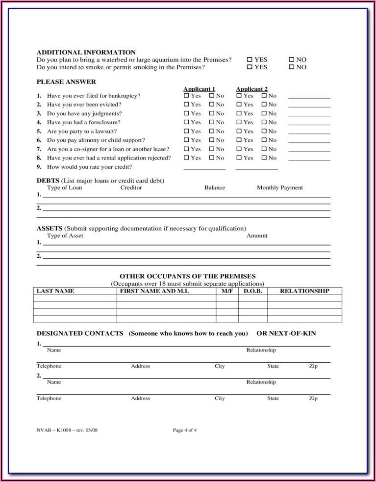 Oregon Rental Agreement Form 818a